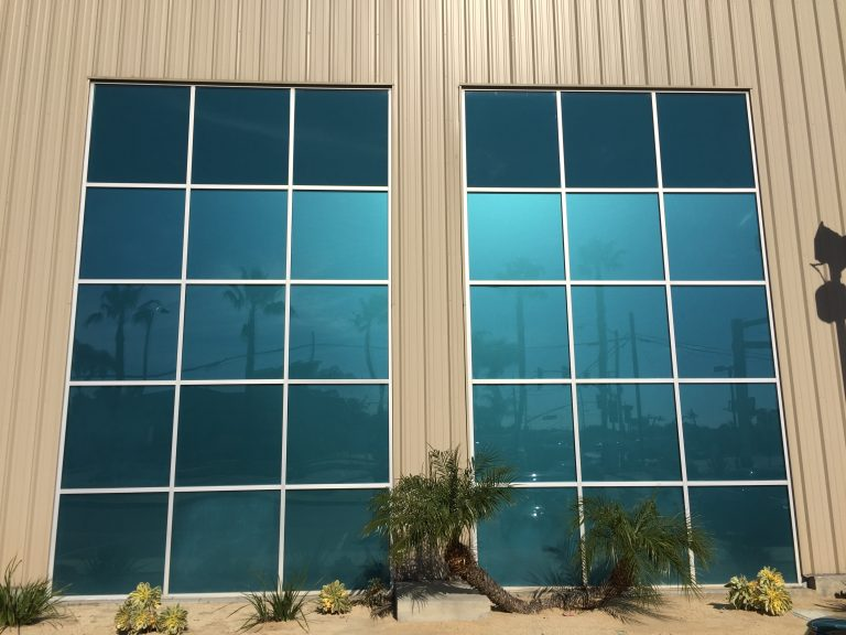 Window Tinting For Increased Privacy For Plane Hangar