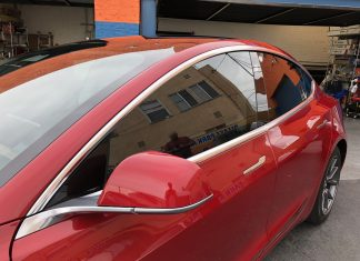 Tesla Model 3 Window Tint Huper Optik Ceramic 30%