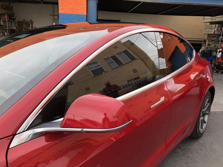 Tesla Model 3 Window Tinting With Huper Optik Ceramic Tint
