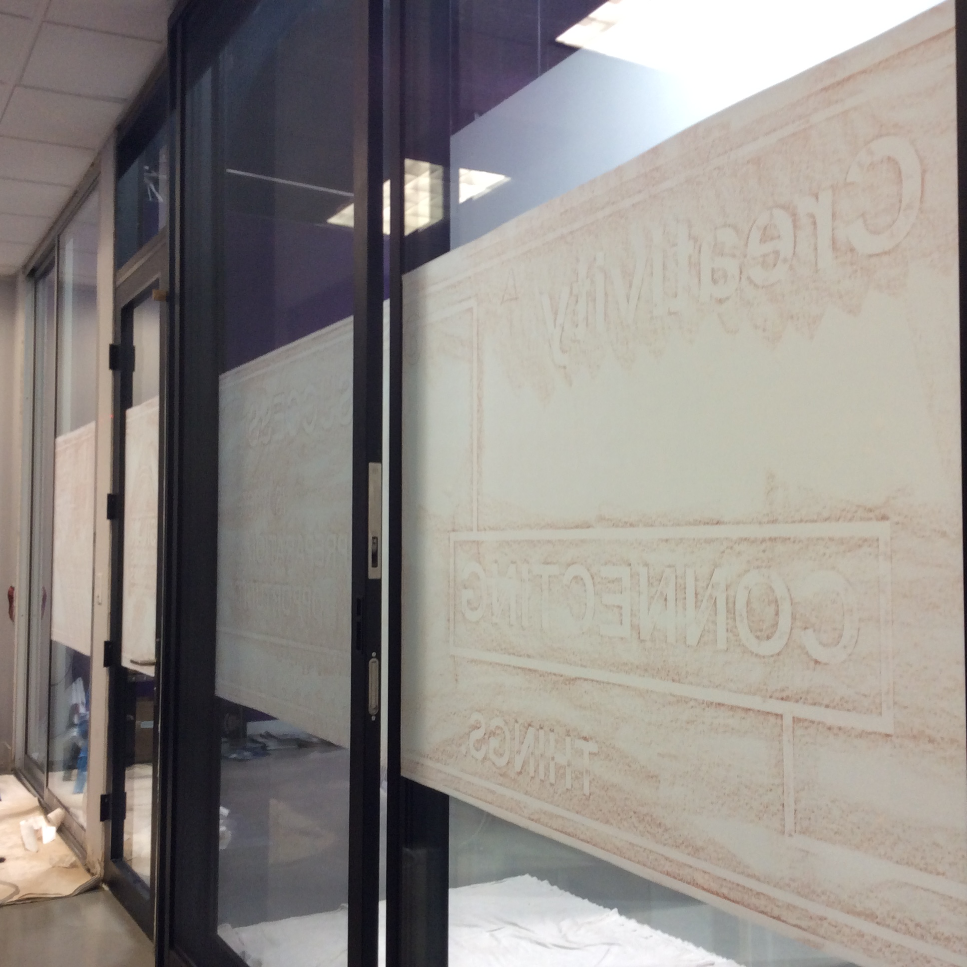Custom Cut Frost Design for Office Windows