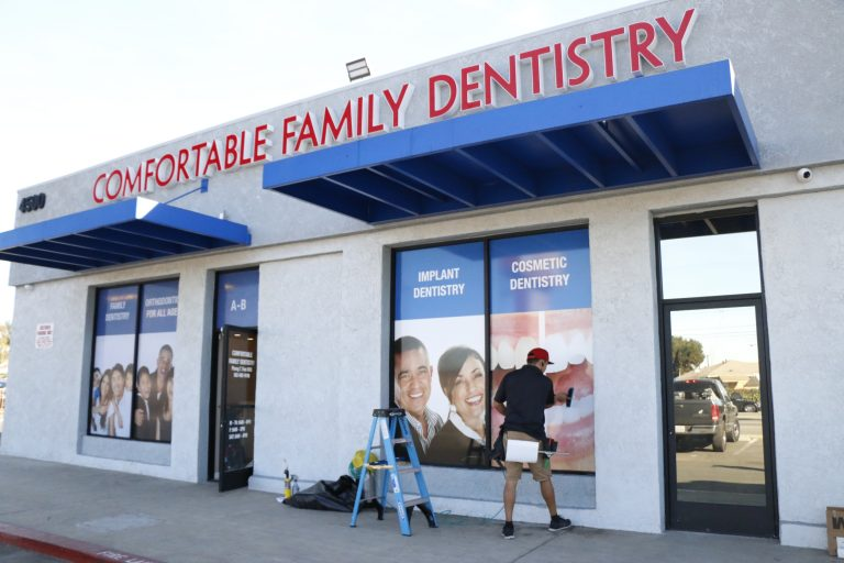Custom Window Graphics For Dentist Office In Los Angeles