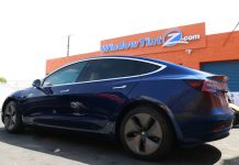 Tesla Model 3 Window Ceramic Tint Los Angeles