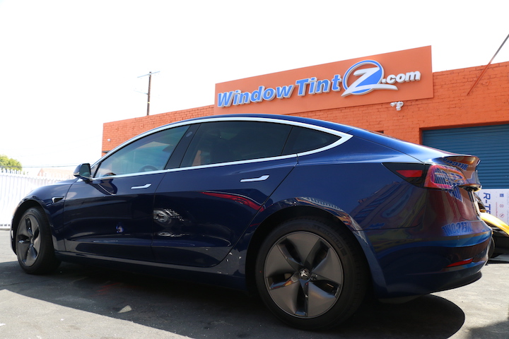 Tesla Model 3 Window Ceramic Tint In Los Angeles Window