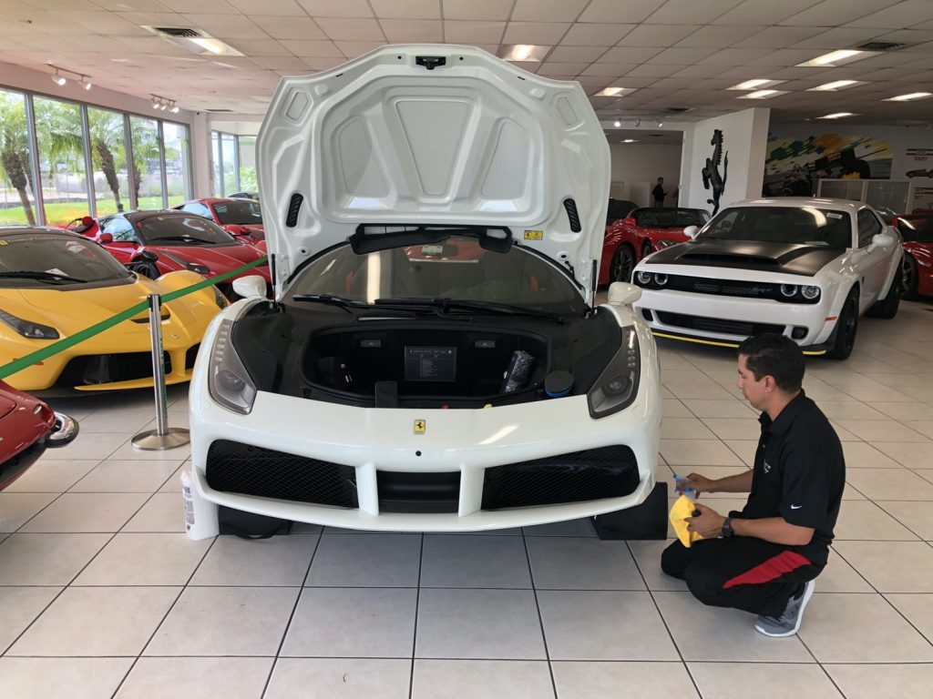 Clear Bra Paint Protection in Orlando Ferrari 488 Spider