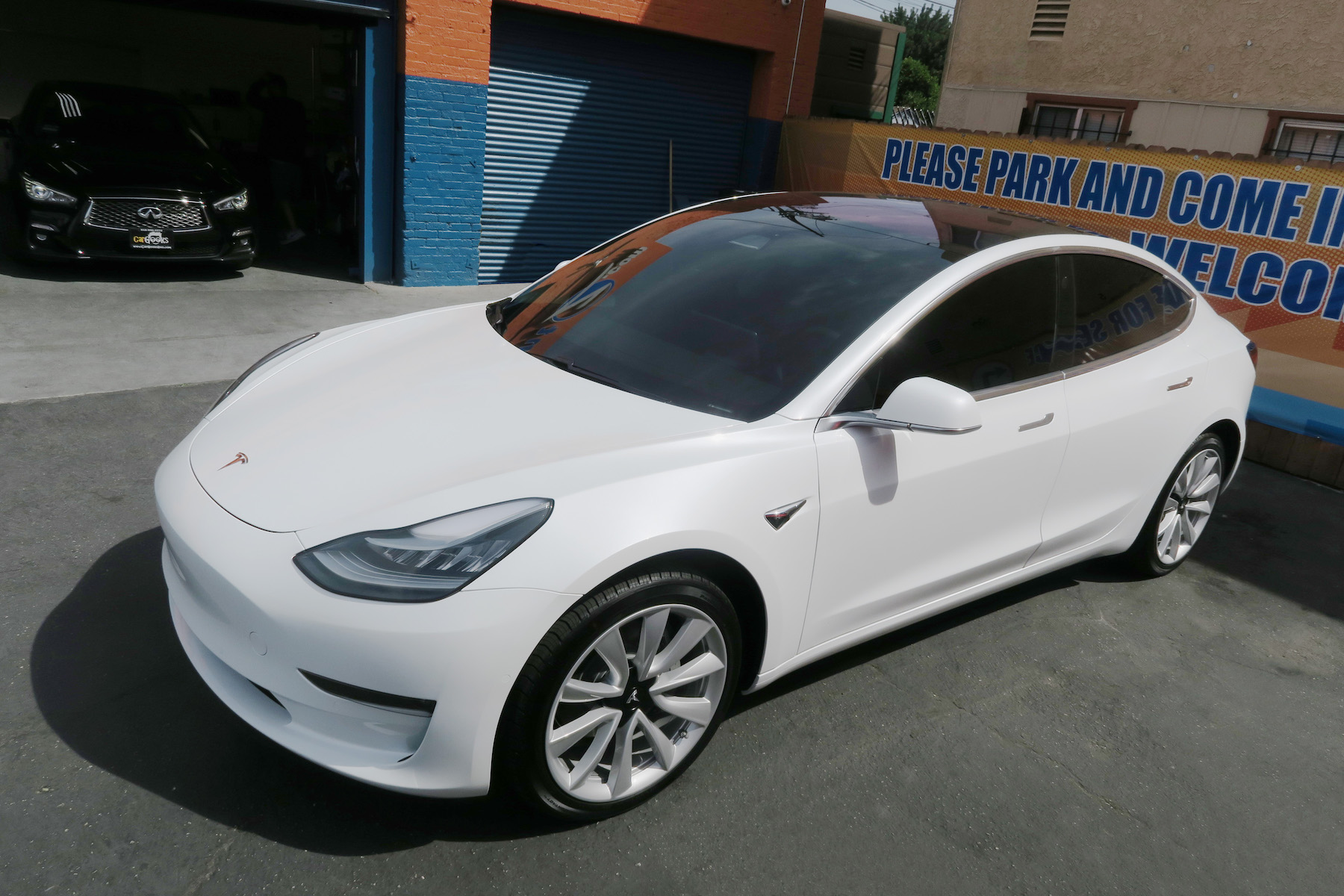 Stratos Ceramic Tint On A Tesla Model 3 In Los Angeles