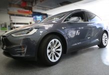 Model X Paint Protection Film Clear Bra