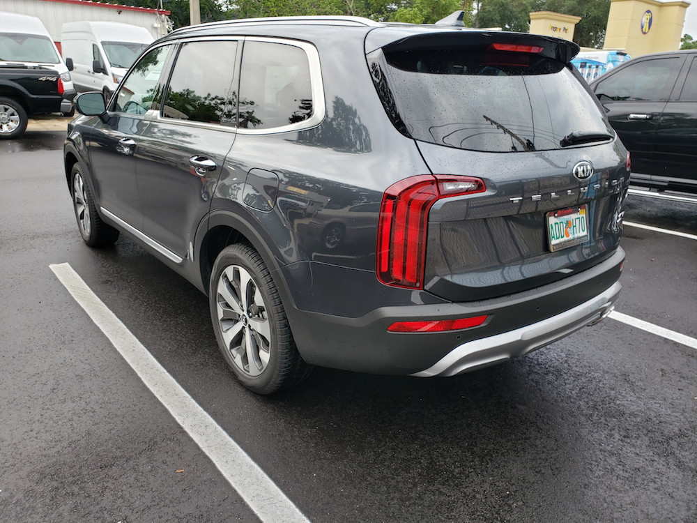 New 2020 KIA Telluride Window Tint Grey Orlando 4 door