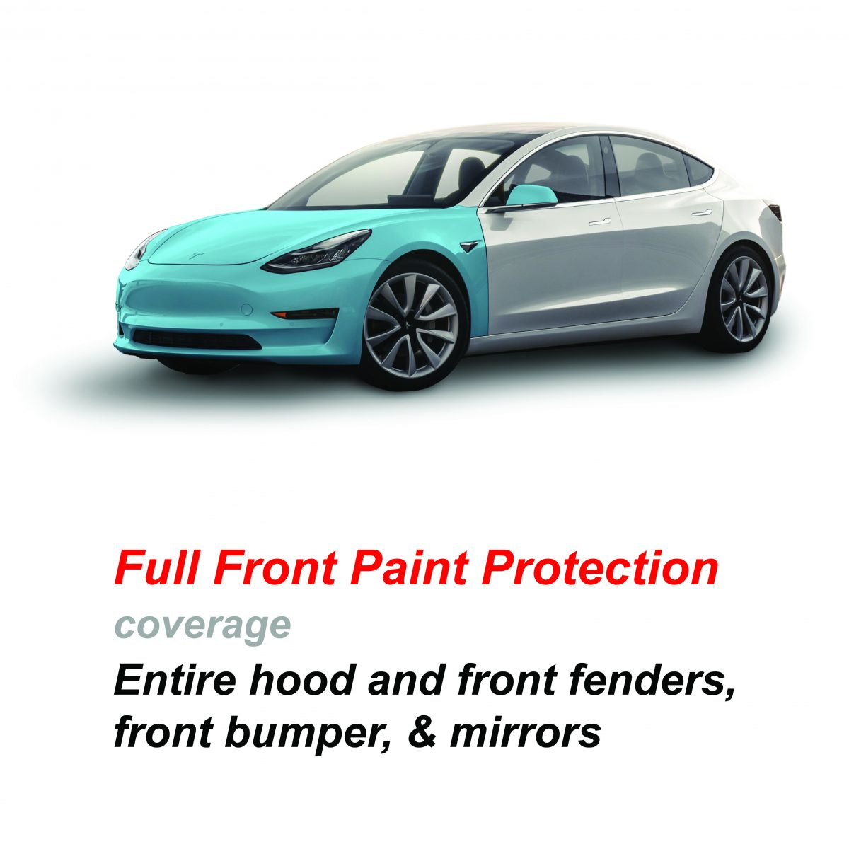 Model 3 Paint Protection Full Front Window Tint Z